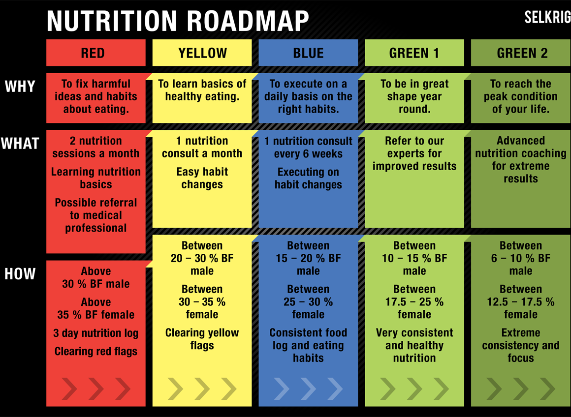 selkrig nutrition roadmap