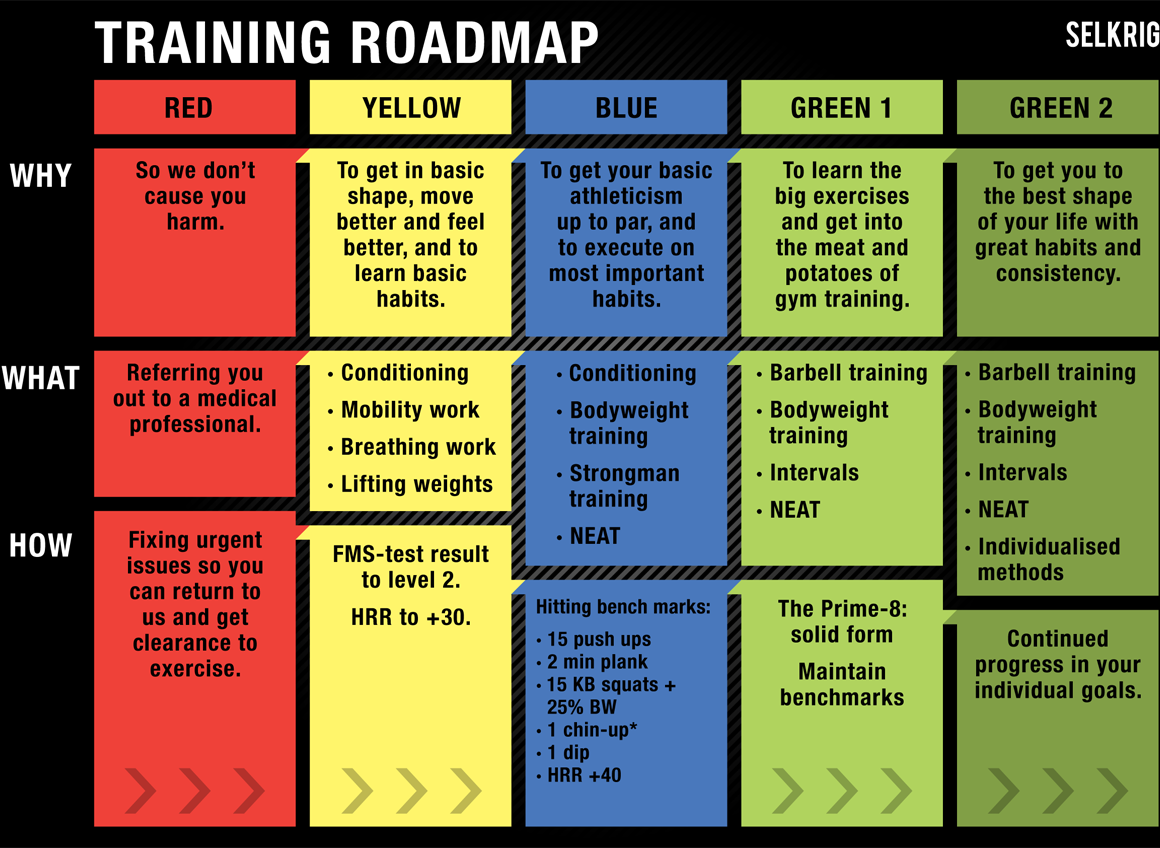 Selkrig training roadmap